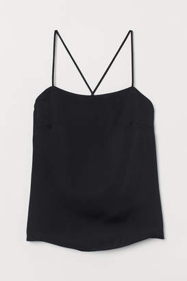 H&M Sleeveless Satin Top
