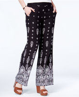Amy Byer Juniors' Printed Wide-Leg Pants