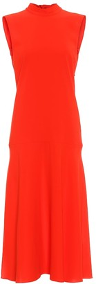 Victoria Victoria Beckham Sleeveless crepe midi dress