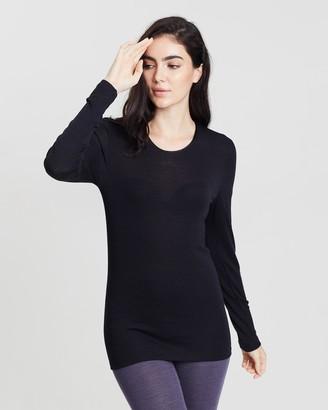 Hanro Woolen Silk Round Neck Long Sleeve Shirt