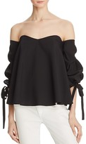 Do and Be Bustier Tie Sleeve Top