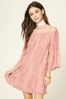 Forever 21 FOREVER 21+ Embroidered Mesh Mini Dress