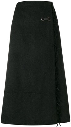 Paco Rabanne Pre Owned wrap-around A-line skirt