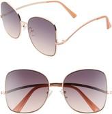 BP 58mm Gradient Butterfly Sunglasses