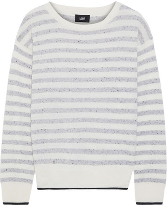 Line Striped Marled Cashmere Sweater