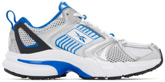 Reebok Classics White and Blue Premier Sneakers