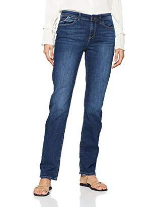 Esprit Women's 029EE1B006 Straight Jeans, (Blue Dark Wash 901), W26/L31