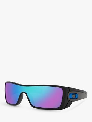 Oakley OO9101 Men's Batwolf Prizm Rectangular Sunglasses, Black Ink/Grey
