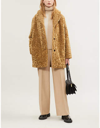 Samsoe & Samsoe Natja faux-shearling coat