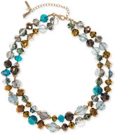 lonna & lilly Gold-Tone Multi-Bead Layer Collar Necklace