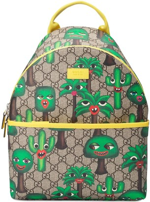 Gucci Kids smiling plant backpack