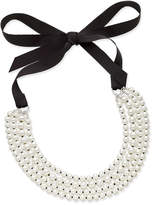 Charter Club Silver-Tone Imitation Pearl and Ribbon Multi-Strand Necklace
