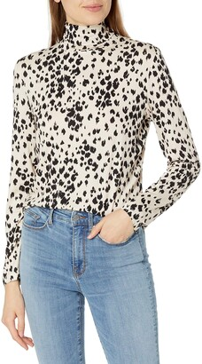 Trina Turk Women's Leopard Turtleneck