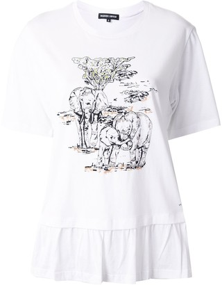 Markus Lupfer elephant print T-shirt