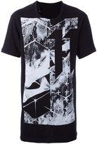 11 By Boris Bidjan Saberi abstract print T-shirt