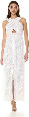 BCBGMAXAZRIA Azria Women's Genelle Lace Halter Gown