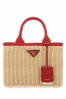 Prada Logo Plaque Double-Handle Tote Bag