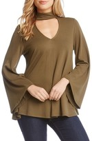 Karen Kane Women's Cutout V-Neck Bell Sleeve Top