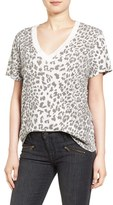 Current/Elliott Cheetah Print Cotton Tee