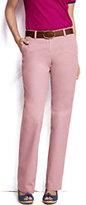 Classic Women's Mid Rise Straight Leg Chino Pants-Dark Red