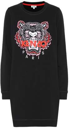 Kenzo Tiger Logo cotton sweater dress