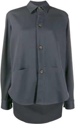 Societe Anonyme Long-Sleeved Elongated-Back Shirt