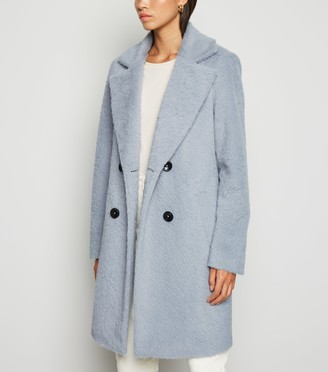 New Look Fluffy Collared Longline Coat