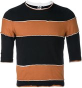 Telfar striped crew-neck top - men - Cotton - S