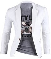 SODIAL(R) New Fashion Mens Slim Fit Stylish Casual One Button Suit Coat Jacket Blazers
