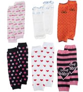 TopTie Cotton Leg Warmer for Baby Girls, 6 Pairs Cute Printed (Random Patterns)
