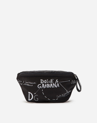 Dolce & Gabbana Nylon Belt Bag With Embroidery