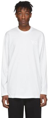Y-3 Y 3 White Logo Long Sleeve T-Shirt