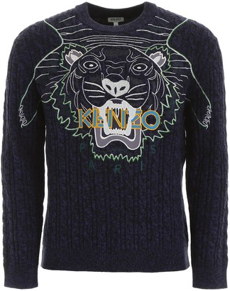 Kenzo Tiger Cable Knit Sweater