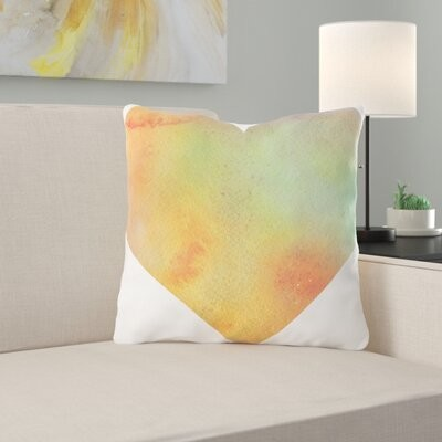 Ebern Designs Richins Flowers Throw Pillow Cover Material Synthetic Location Outdoor Shopstyle