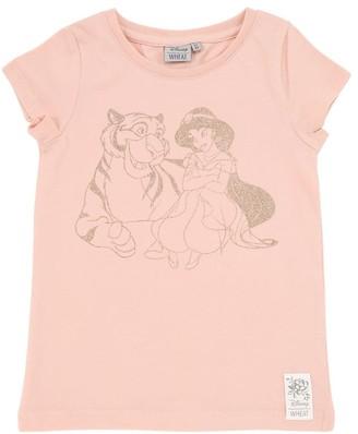 Wheat Aladdin Print Cotton Jersey T-shirt