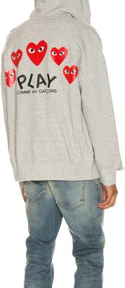 Comme des Garcons Full Zip Hoodie in Grey | FWRD