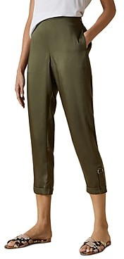Ted Baker Ilaria Roll-Tab Cropped Jogger Pants