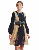 Cynthia Rowley Silk Georgette Rainbow Floral Embroidered Dress