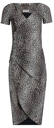 Chiara Boni Leopard Print Ruched Dress