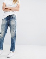 Blank NYC Boyfriend Jeans with Distressed Raw Hem