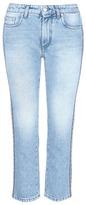 MSGM Logo stripe outseam skinny jeans