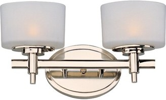 Danbury Latitude Run 2-Light Vanity Light Latitude Run Finish: Polished Nickel