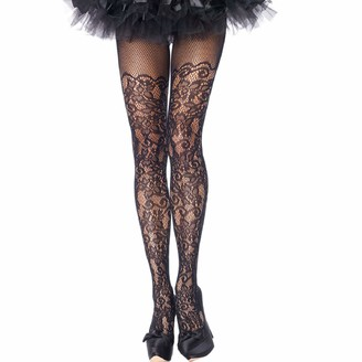 Leg Avenue Womens Plus Size Floral Vine Fishnet Tights