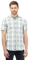 Mantaray Big And Tall Blue Checked Print Shirt