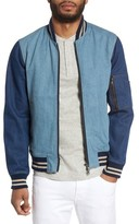 Slate & Stone Men's Denim Bomber Jacket