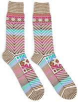 Anonymous Ism Kilim Crew Socks Pink - Pink