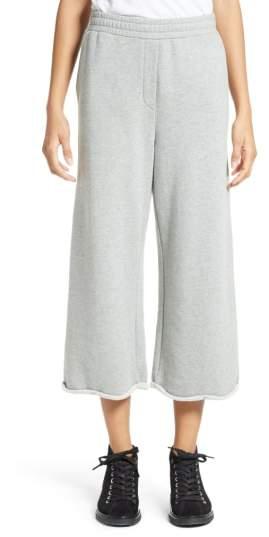 Alexander Wang Crop Wide Leg Sweatpants