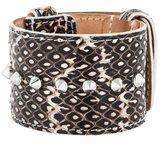Barbara Bui Wide Python Bracelet