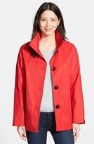 Ellen Tracy Women's Cotton Blend Stand Collar A-Line Jacket