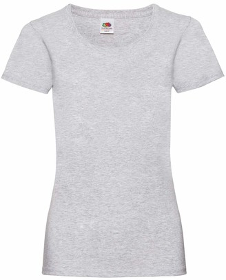 Fruit of the Loom NEW Lady Fit Valueweight T-ShirtHeather Grey S